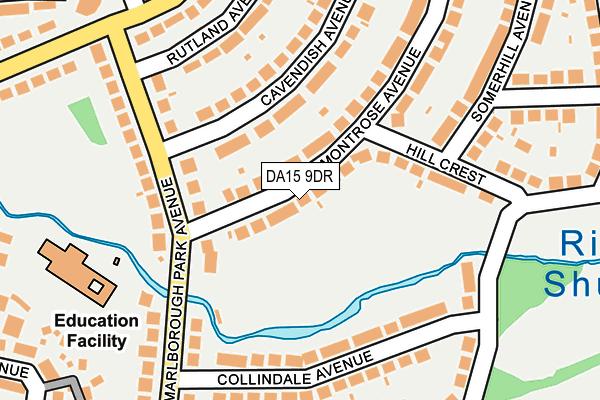 DA15 9DR map - OS OpenMap – Local (Ordnance Survey)