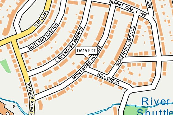 DA15 9DT map - OS OpenMap – Local (Ordnance Survey)