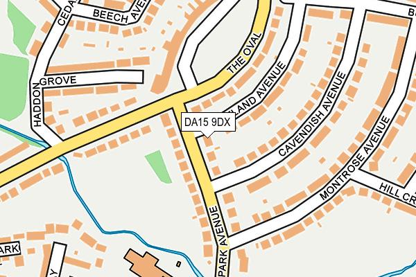 DA15 9DX map - OS OpenMap – Local (Ordnance Survey)