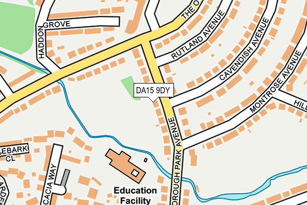 DA15 9DY map - OS OpenMap – Local (Ordnance Survey)