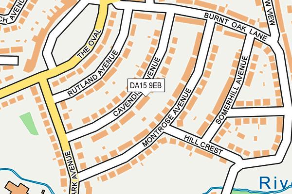 DA15 9EB map - OS OpenMap – Local (Ordnance Survey)