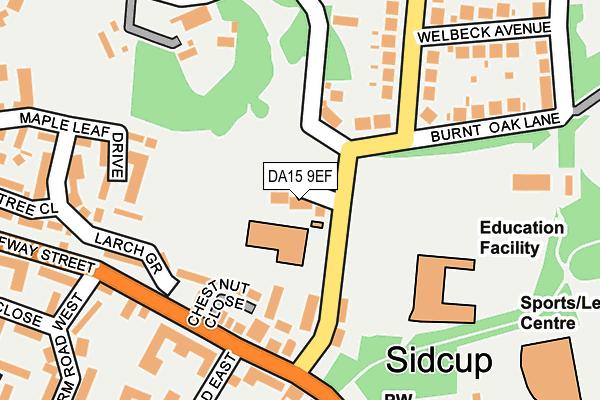 DA15 9EF map - OS OpenMap – Local (Ordnance Survey)