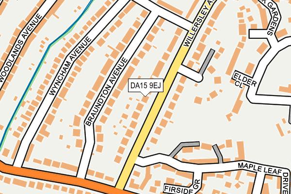 DA15 9EJ map - OS OpenMap – Local (Ordnance Survey)