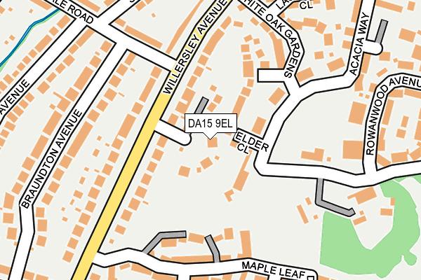 DA15 9EL map - OS OpenMap – Local (Ordnance Survey)