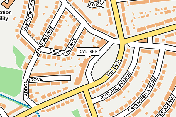 DA15 9ER map - OS OpenMap – Local (Ordnance Survey)