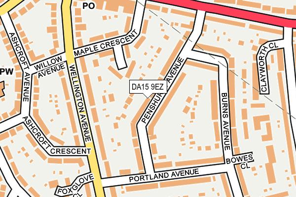 DA15 9EZ map - OS OpenMap – Local (Ordnance Survey)