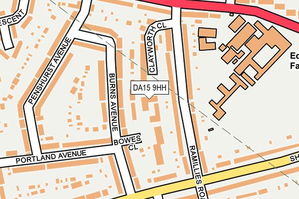 DA15 9HH map - OS OpenMap – Local (Ordnance Survey)
