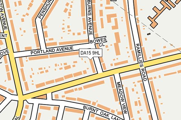 DA15 9HL map - OS OpenMap – Local (Ordnance Survey)
