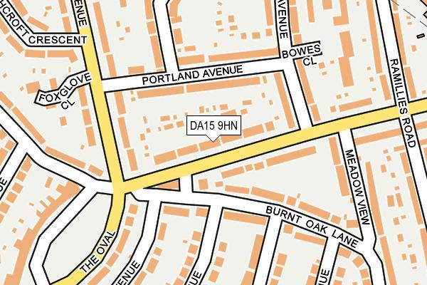 DA15 9HN map - OS OpenMap – Local (Ordnance Survey)