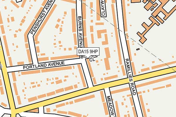 DA15 9HP map - OS OpenMap – Local (Ordnance Survey)
