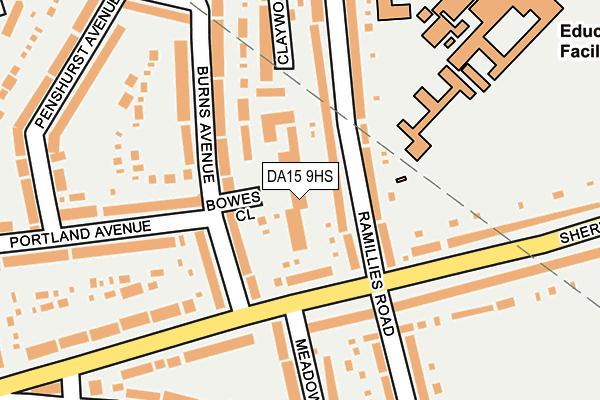 DA15 9HS map - OS OpenMap – Local (Ordnance Survey)