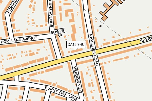 DA15 9HU map - OS OpenMap – Local (Ordnance Survey)