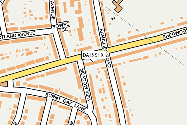 DA15 9HX map - OS OpenMap – Local (Ordnance Survey)