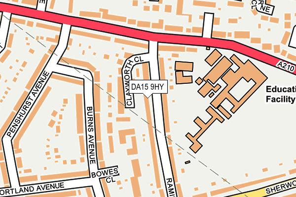 DA15 9HY map - OS OpenMap – Local (Ordnance Survey)
