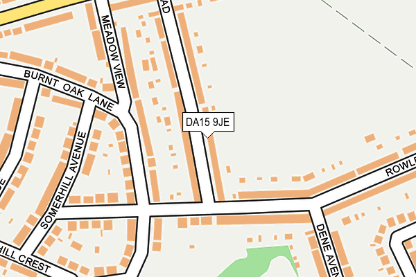 DA15 9JE map - OS OpenMap – Local (Ordnance Survey)