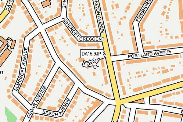 DA15 9JP map - OS OpenMap – Local (Ordnance Survey)