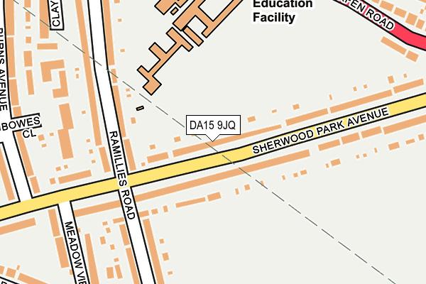DA15 9JQ map - OS OpenMap – Local (Ordnance Survey)