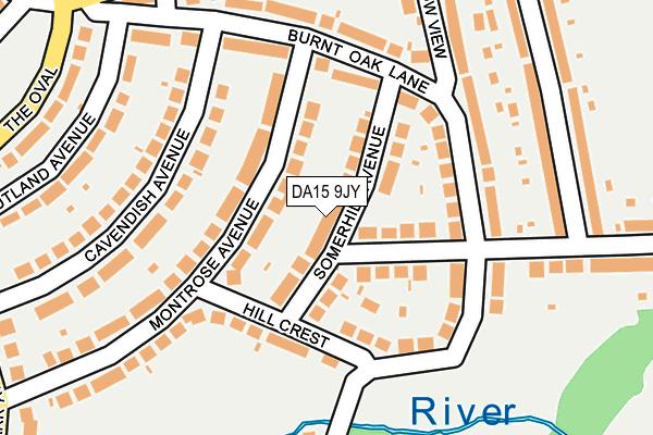 DA15 9JY map - OS OpenMap – Local (Ordnance Survey)