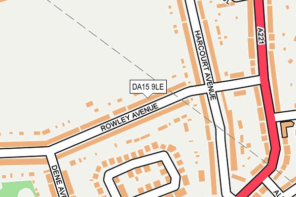 DA15 9LE map - OS OpenMap – Local (Ordnance Survey)