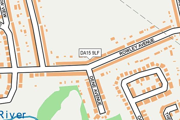 DA15 9LF map - OS OpenMap – Local (Ordnance Survey)