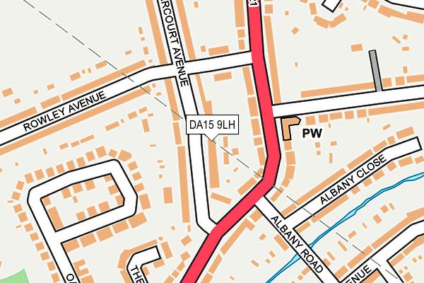 DA15 9LH map - OS OpenMap – Local (Ordnance Survey)