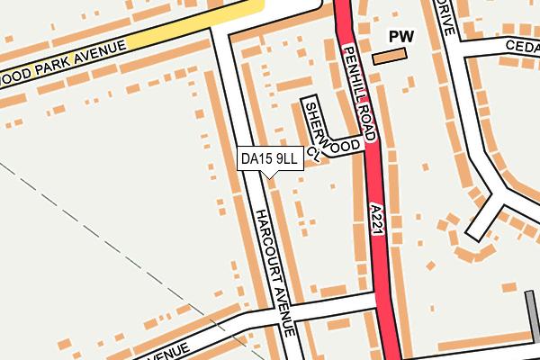 DA15 9LL map - OS OpenMap – Local (Ordnance Survey)