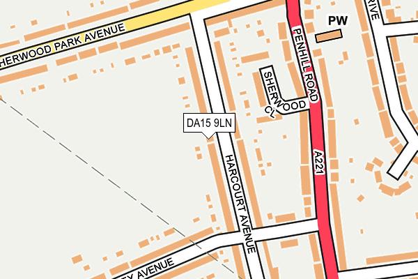 DA15 9LN map - OS OpenMap – Local (Ordnance Survey)