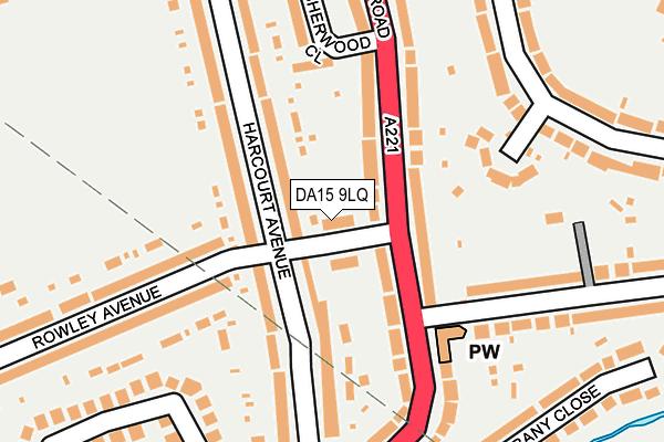DA15 9LQ map - OS OpenMap – Local (Ordnance Survey)