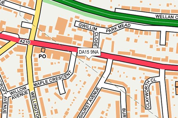 DA15 9NA map - OS OpenMap – Local (Ordnance Survey)