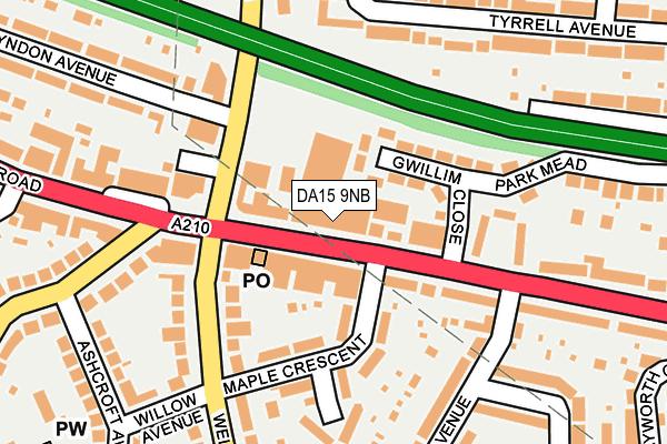 DA15 9NB map - OS OpenMap – Local (Ordnance Survey)