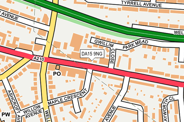 DA15 9NG map - OS OpenMap – Local (Ordnance Survey)