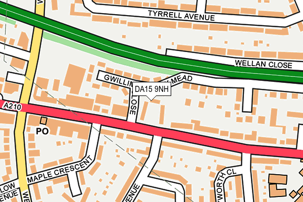 DA15 9NH map - OS OpenMap – Local (Ordnance Survey)