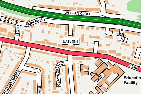 DA15 9NJ map - OS OpenMap – Local (Ordnance Survey)