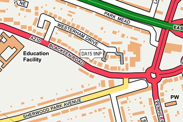 DA15 9NP map - OS OpenMap – Local (Ordnance Survey)