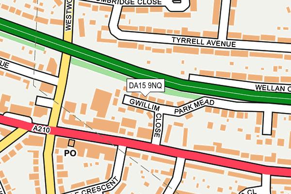 DA15 9NQ map - OS OpenMap – Local (Ordnance Survey)