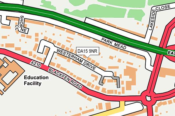 DA15 9NR map - OS OpenMap – Local (Ordnance Survey)