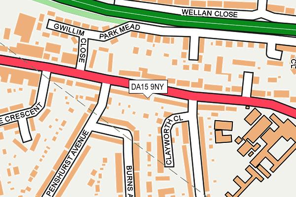 DA15 9NY map - OS OpenMap – Local (Ordnance Survey)