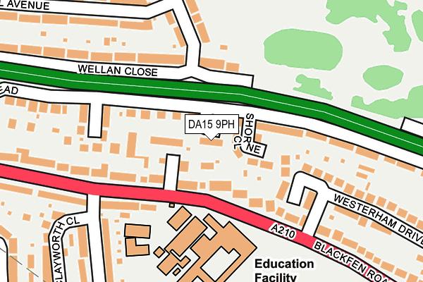 DA15 9PH map - OS OpenMap – Local (Ordnance Survey)