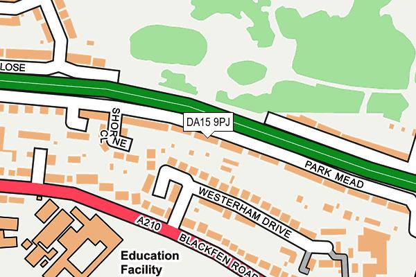 DA15 9PJ map - OS OpenMap – Local (Ordnance Survey)