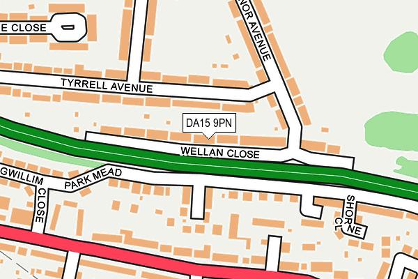 DA15 9PN map - OS OpenMap – Local (Ordnance Survey)
