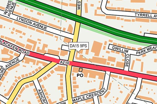 DA15 9PS map - OS OpenMap – Local (Ordnance Survey)