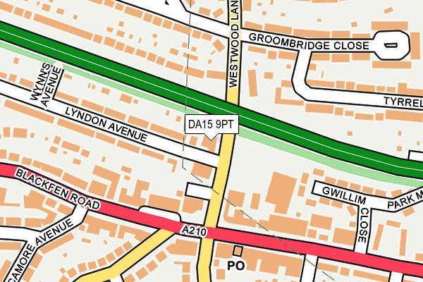 DA15 9PT map - OS OpenMap – Local (Ordnance Survey)