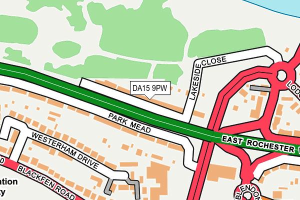 DA15 9PW map - OS OpenMap – Local (Ordnance Survey)