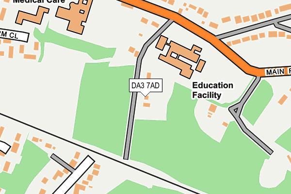 DA3 7AD map - OS OpenMap – Local (Ordnance Survey)