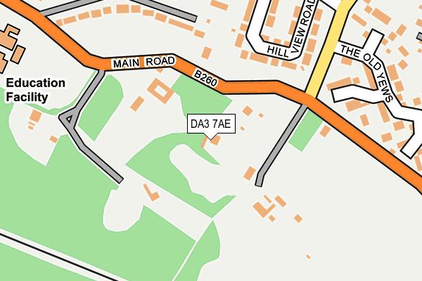 DA3 7AE map - OS OpenMap – Local (Ordnance Survey)
