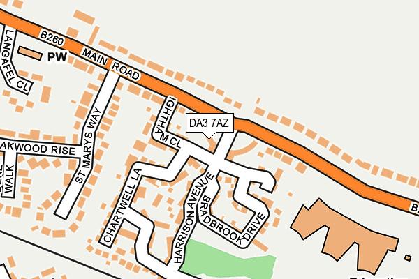 DA3 7AZ map - OS OpenMap – Local (Ordnance Survey)