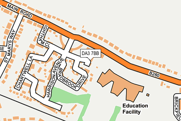 DA3 7BB map - OS OpenMap – Local (Ordnance Survey)