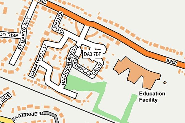 DA3 7BF map - OS OpenMap – Local (Ordnance Survey)