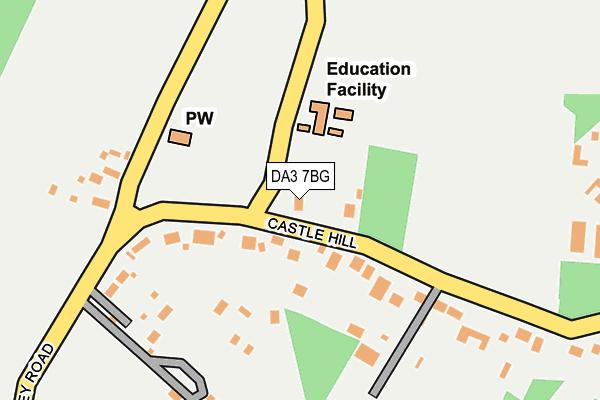 DA3 7BG map - OS OpenMap – Local (Ordnance Survey)