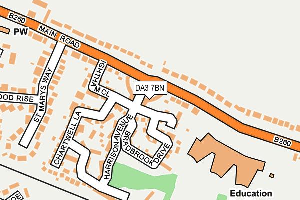 DA3 7BN map - OS OpenMap – Local (Ordnance Survey)